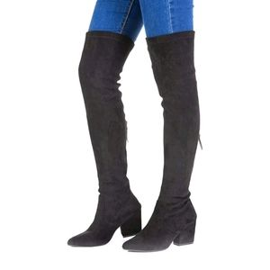 N.N.G Women's Over Knee Long Suede Boots